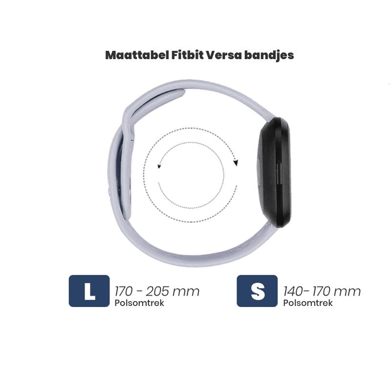 Fitbit Versa Maattabel bandjes - Fitbitbandje.nl