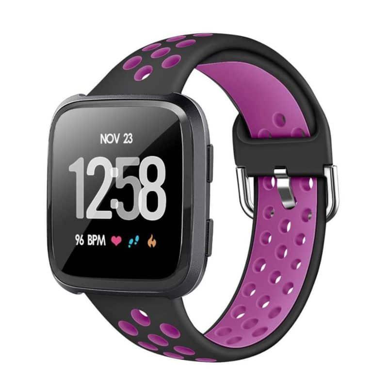 Fitbit Versa bandje - Zwart paars - Fitbitbandje.nl