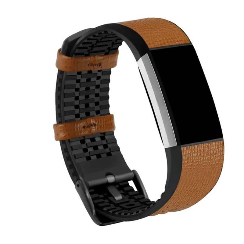 Fitbit bandje charge 2 bruin - Fitbitbandje.nl