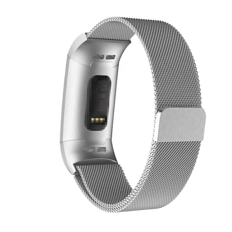 Fitbit bandje charge 3 milanese zilver - Fitbitbandje.nl