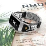 Fitbit bandje charge 3 – zwart zilver – Fitbitbandje.nl