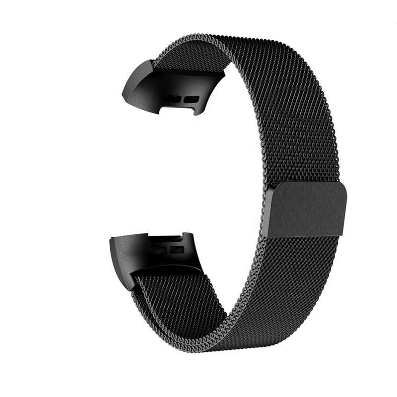 Fitbit charge 4 bandje milanese zwart - Fitbitbandje.nl