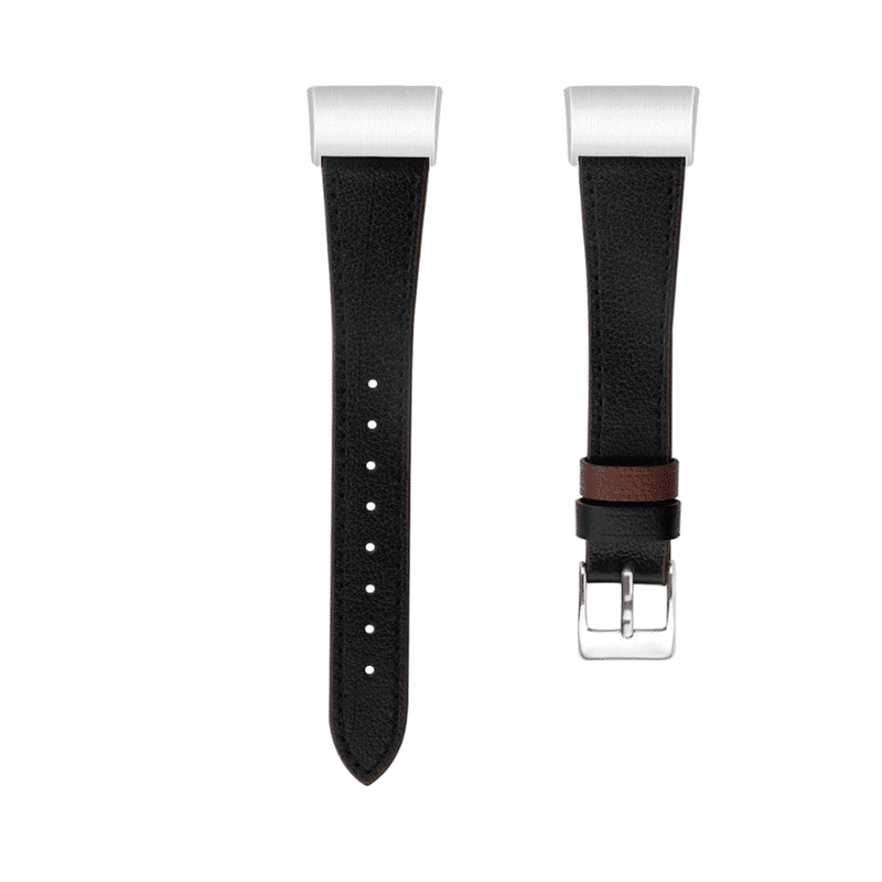 Fitbit charge 4 bandje zwart leer - Fitbitbandje.nl
