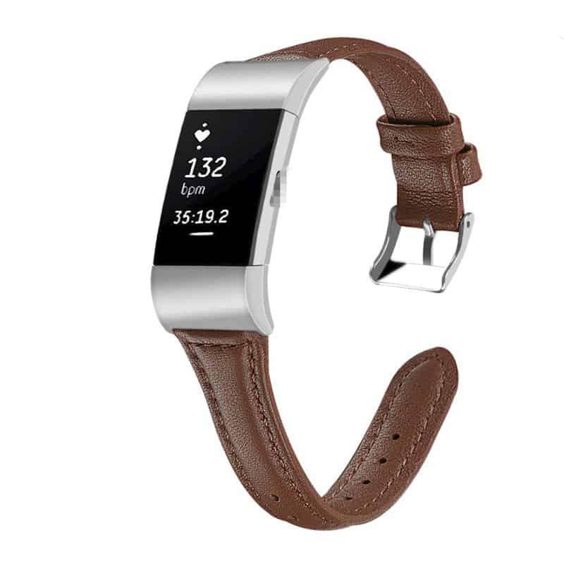 Fitbit charge bandje bruin leer - Fitbitbandje.nl