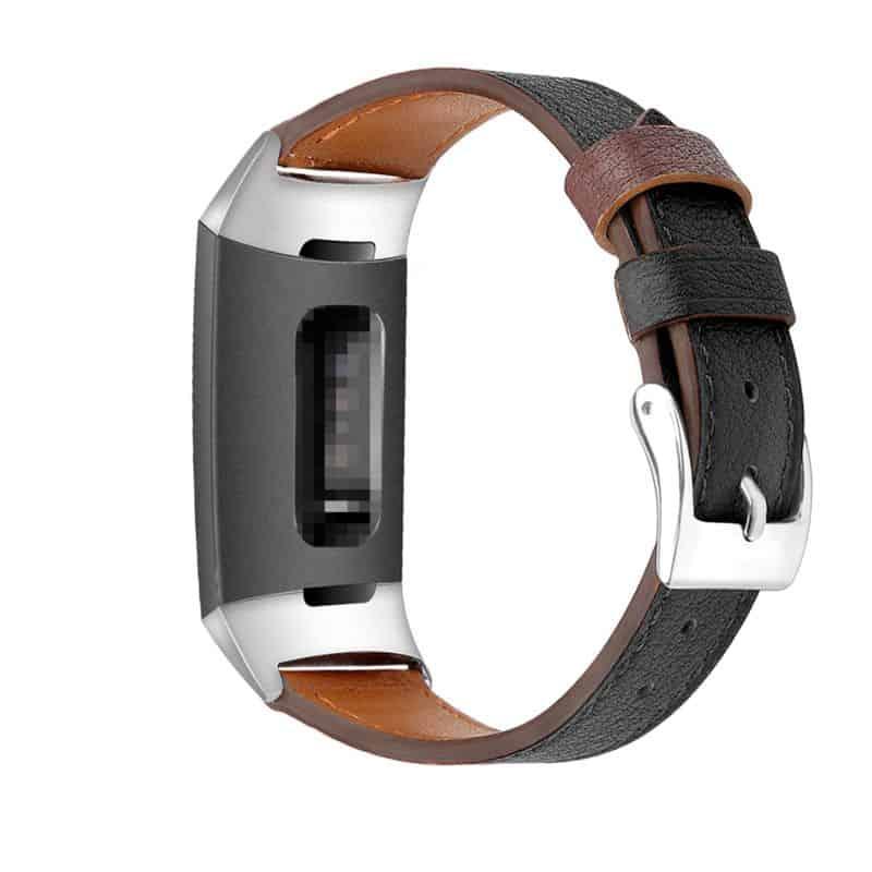 Fitbit charge bandje zwart leer - Fitbitbandje.nl