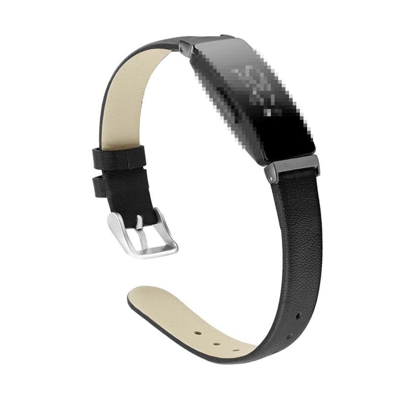 Fitbit inspire bandje leer zwart - Fitbitbandje.nl