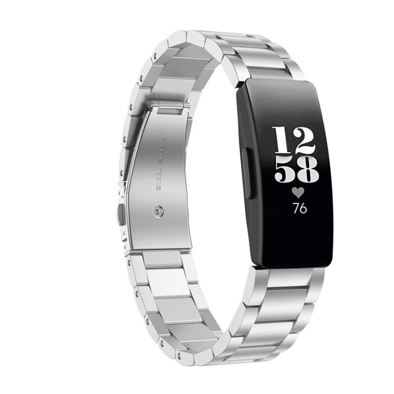 Fitbit inspire bandje zilver - Fitbitbandje.nl