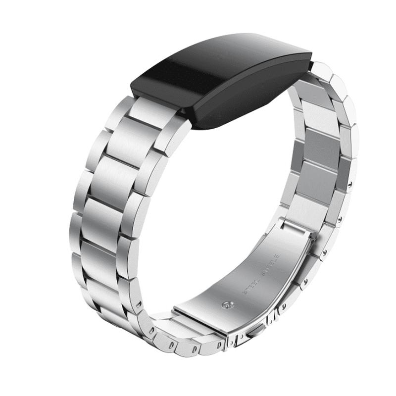 Fitbit inspire bandje zilver staal - Fitbitbandje.nl