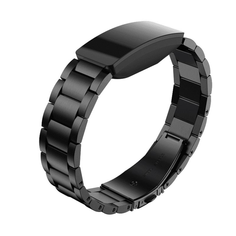 Fitbit inspire bandje zwart staal - Fitbitbandje.nl