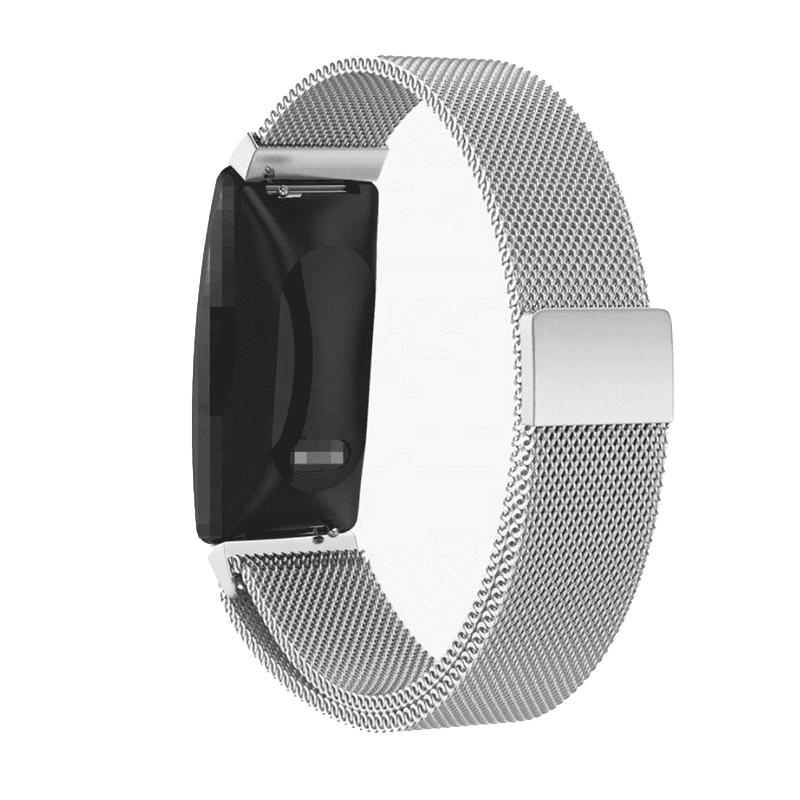 Fitbit inspire milanese bandje zilver - Fitbitbandje.nl