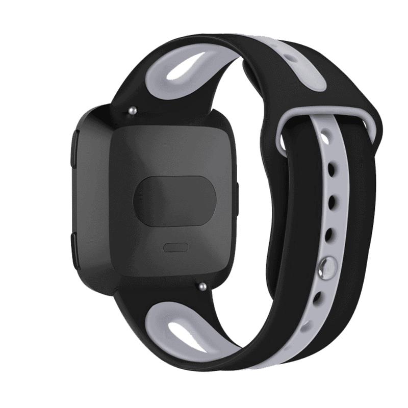 Fitbit versa 2 bandje sport - zwart - Fitbitbandje.nl