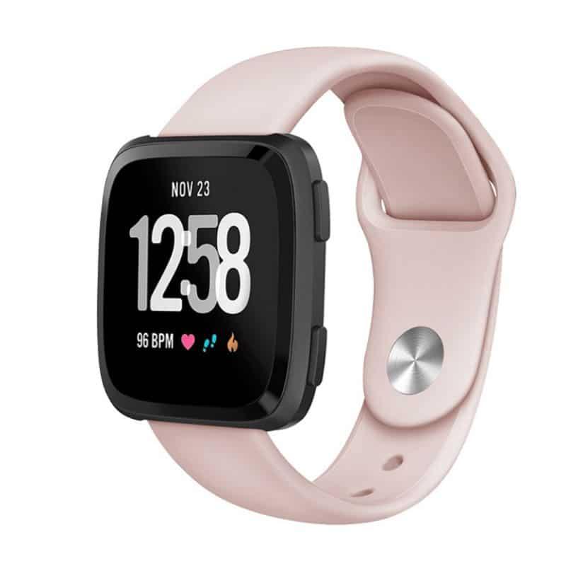 Fitbit versa bandje siliconen licht roze - Fitbitbandje.nl