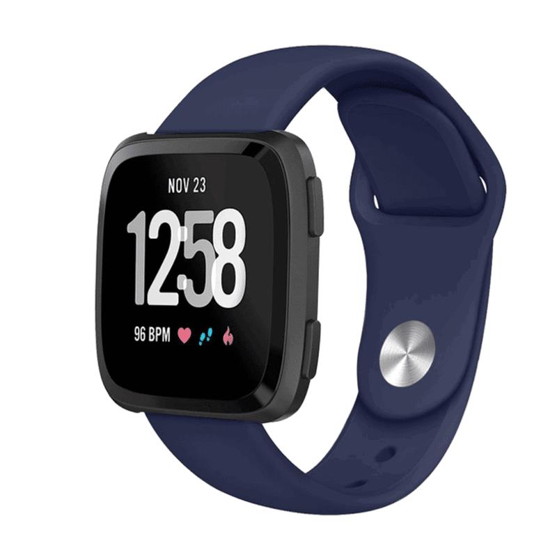 Fitbit versa bandje siliconen marineblauw - Fitbitbandje.nl