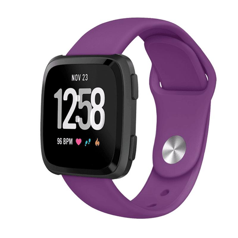 Fitbit versa bandje siliconen paars - Fitbitbandje.nl