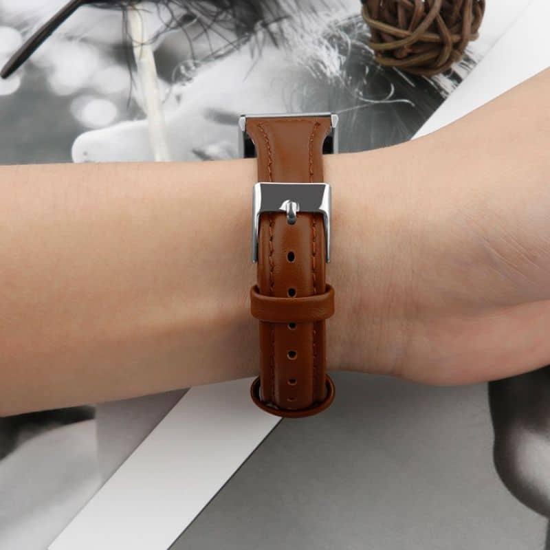 Fitbitbandje charge 2 leer bruin - Fitbitbandje.nl
