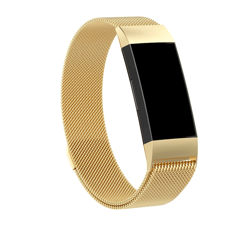 fitbit charge 3-4 bandje milanese - goud - Fitbitbandje.nl