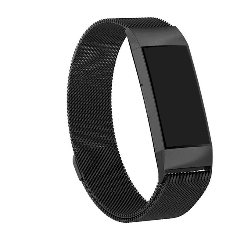 fitbit charge 3-4 bandje milanese zwart - Fitbitbandje.nl