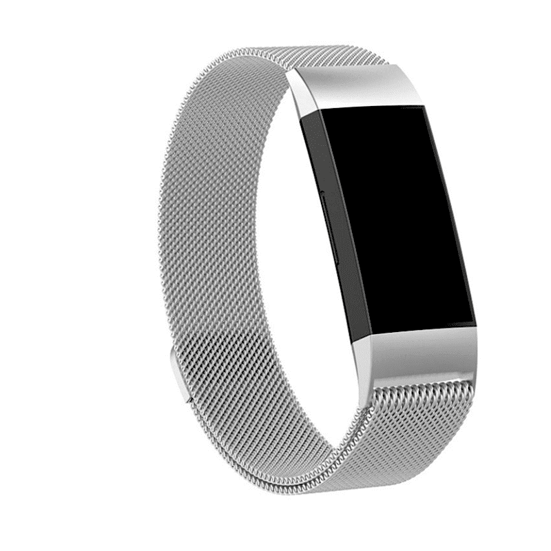 fitbit charge 3-4 milanese bandje zilver - Fitbitbandje.nl