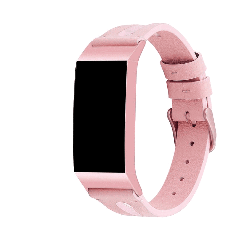 fitbit charge 4 bandje leer roze - Fitbitbandje.nl