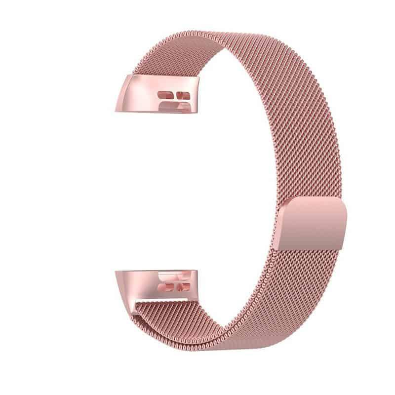 fitbit bandje charge 3-4 milanese roze - Fitbitbandje.nl