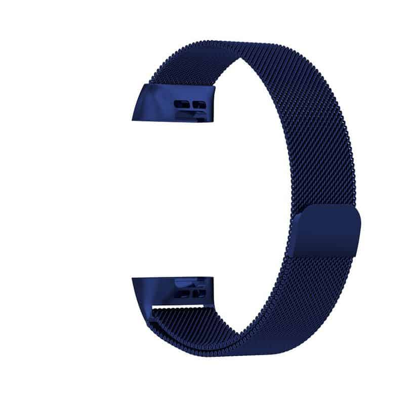 fitbit bandje charge 3 milanese donkerblauw - Fitbitbandje.nl