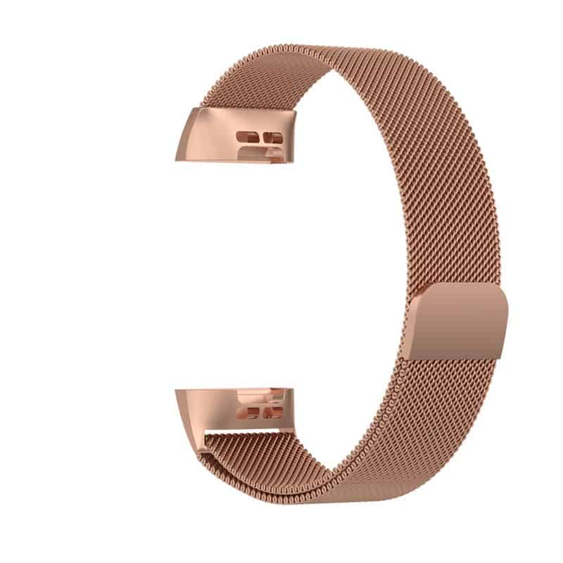 fitbit bandje charge 4 milanese roze goud - Fitbitbandje.nl