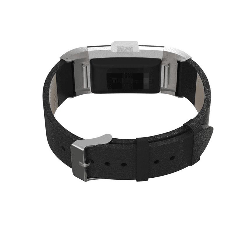 fitbit charge 2 bandje zwart leer - Fitbitbandje.nl