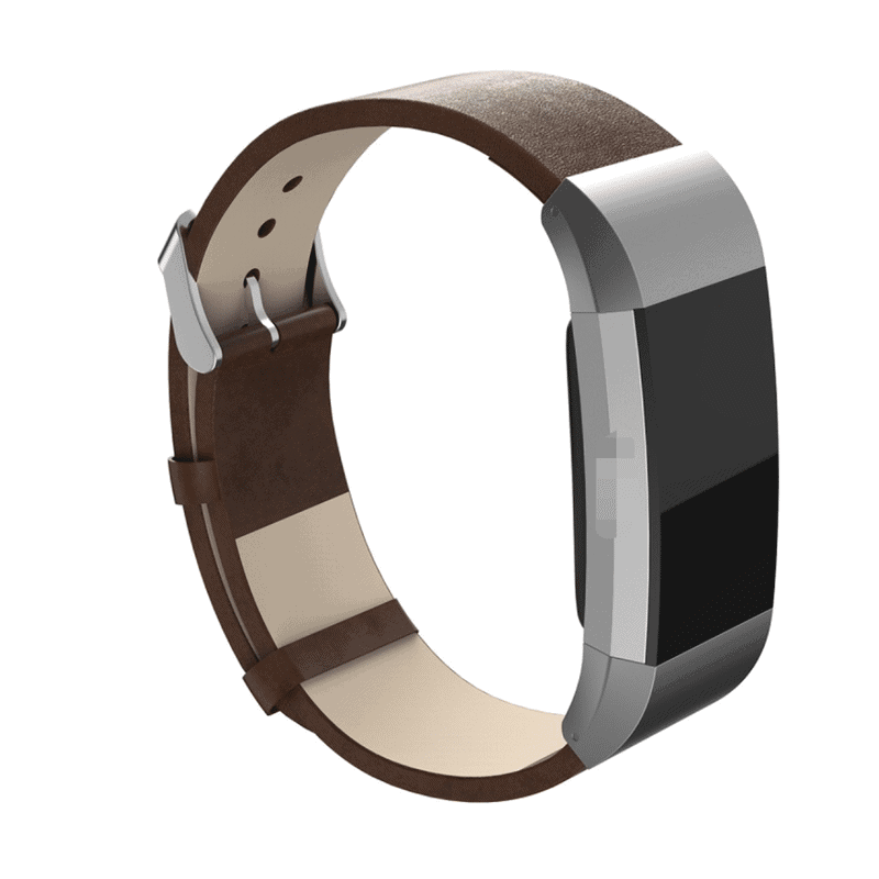 fitbit charge 2 leer donkerbruin - Fitbitbandje.nl