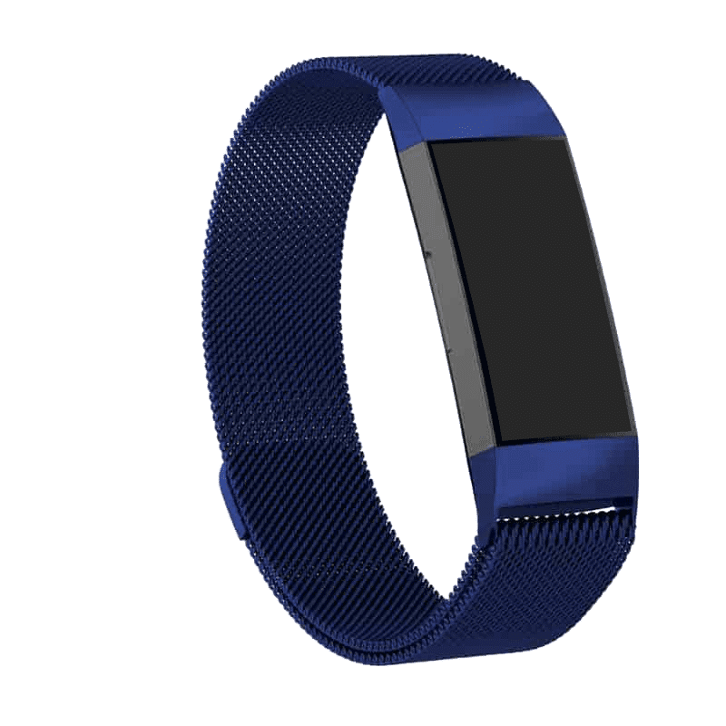 fitbit charge 3 -4 bandje lmilanese donkerblauw - Fitbitbandje.nl