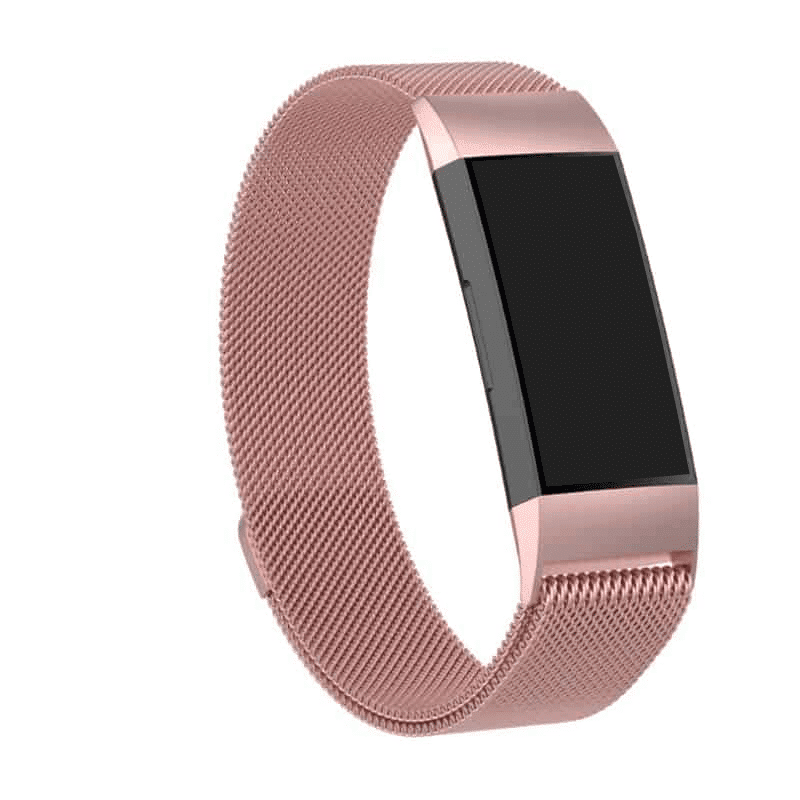 fitbit charge 3-4 bandje milanese roze - Fitbitbandje.nl