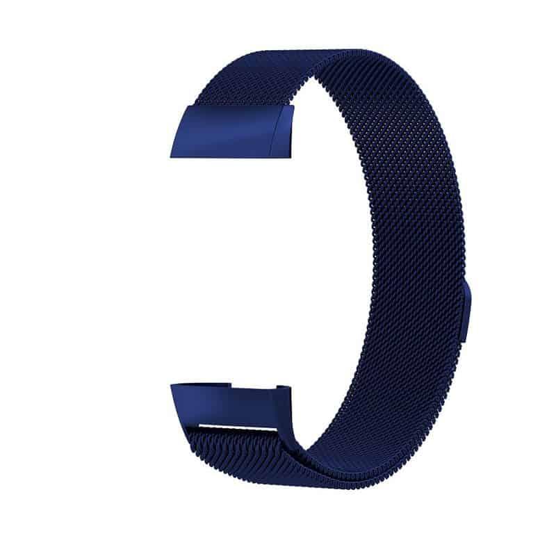 fitbit charge 3 milanese bandje donkerblauw - Fitbitbandje.nl
