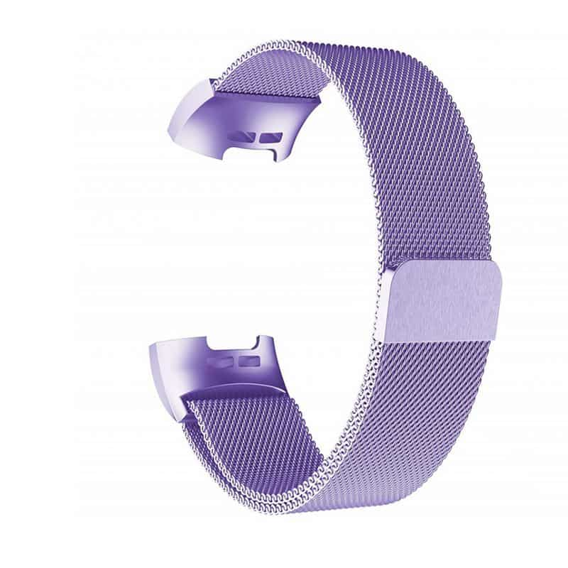 fitbit charge 4 bandje milanese paars - Fitbitbandje.nl