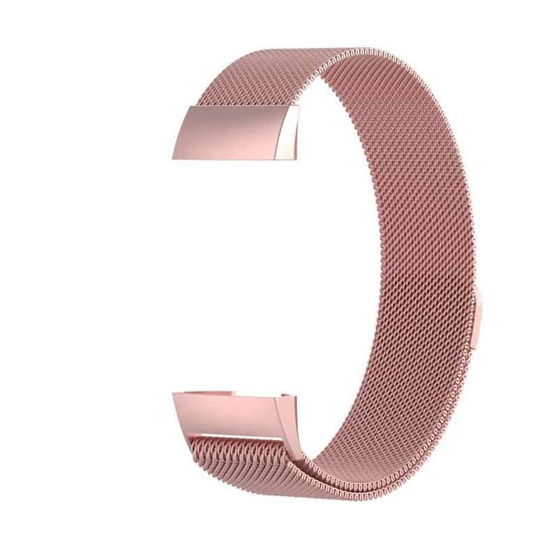fitbit charge 4 bandje milanese roze - Fitbitbandje.nl
