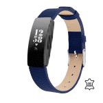 fitbit inspire bandje leer blauw – Fitbitbandje.nl