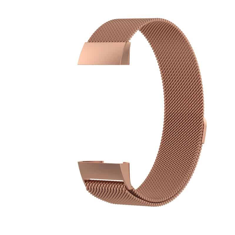fitbitbandje charge 4 milanese roze - Fitbitbandje.nl