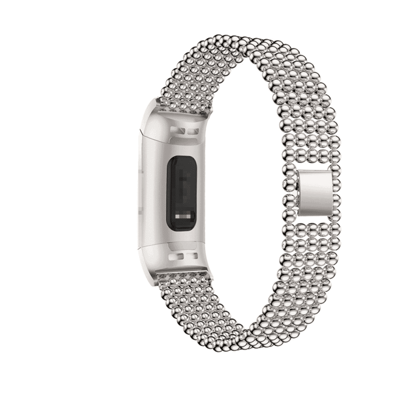 fitbit charge 3 - 4 bandje rvs zilver - Fitbitbandje.nl