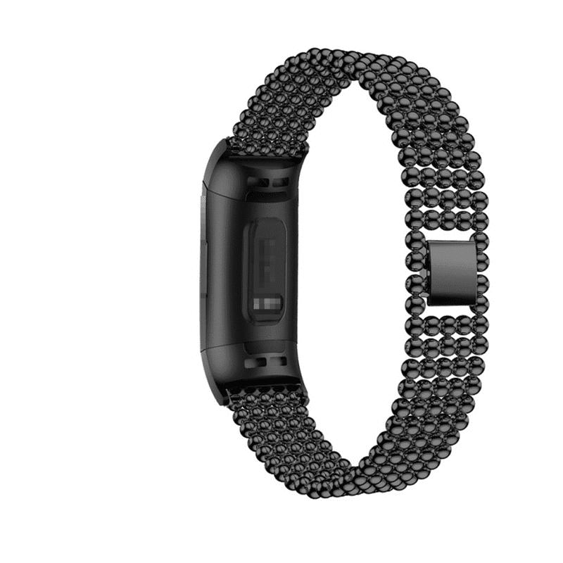 fitbit charge 3-4 bandje rvs zwart - Fitbitbandje.nl