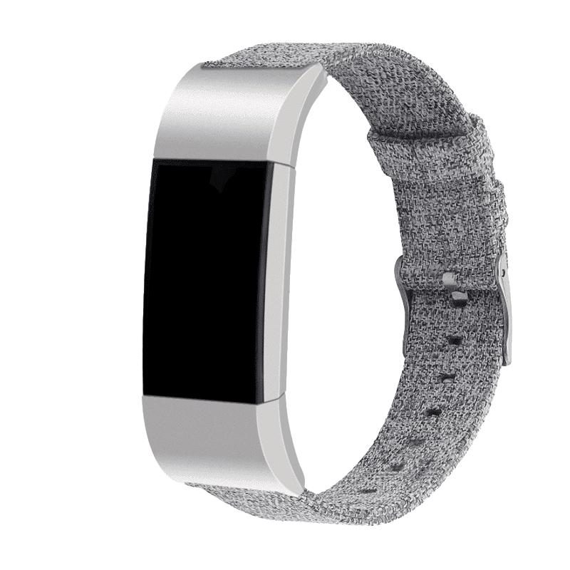 fitbit charge 2 nylon lichtgrijs - Fitbitbandje.nl
