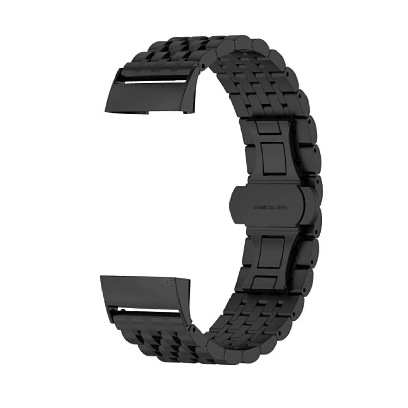 fitbit charge 3 rvs zwart - Fitbitbandje.nl