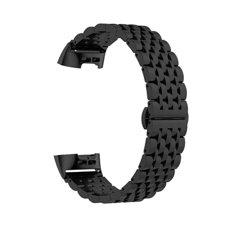 fitbit charge 4 bandje zwart rvs - Fitbitbandje.nl