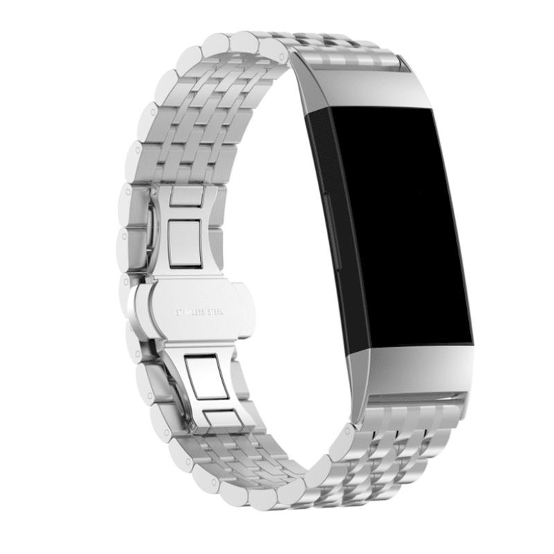fitbit charge 4 bandje rvs zilver - Fitbitbandje.nl