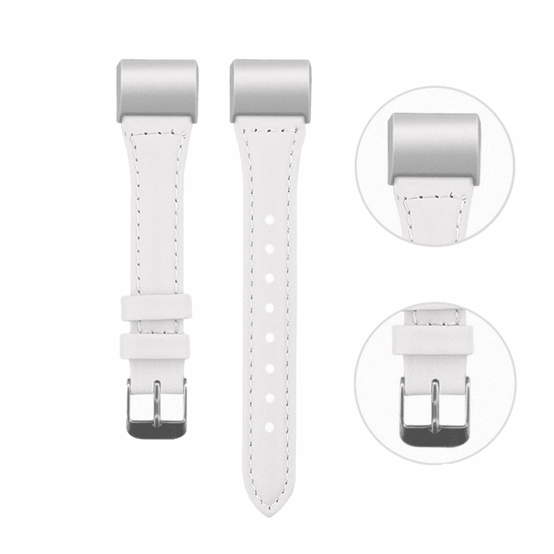 fitbit charge bandje wit leer - Fitbitbandje.nl