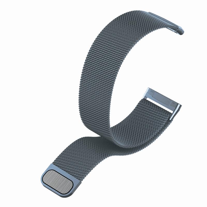 fitbit bandje versa 3 milanees space gray - Fitbitbandje.nl